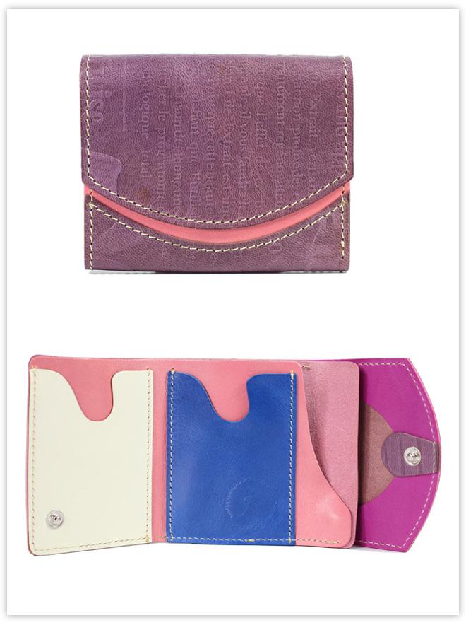 小さい財布 紫の手紙