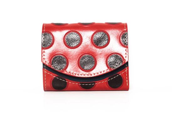 ミニ財布 森の赤いキノコ